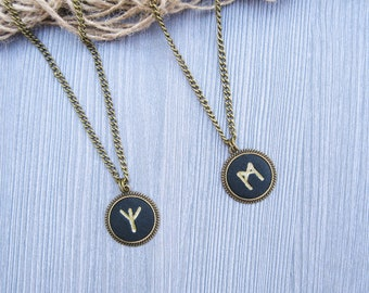 Mens necklaces for mens gift ideas Norse Rune necklace protection jewelry for him Viking necklace Gold rune jewelry Mens celtic necklace