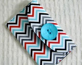 Iphone Wallet , Iphone Wristlet,  Bridesmaid Gift  Passport Travel - Zig Zag Womans Fashion