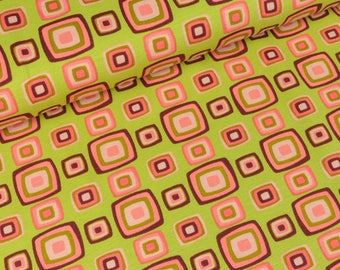 STENZO Cotton Jersey retro squares to light green (13,50 EUR / meter)