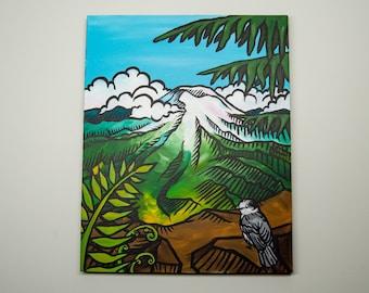 Mt. Rainier - Original Acrylic Painting