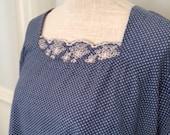 Vintage Blue & White Polk...