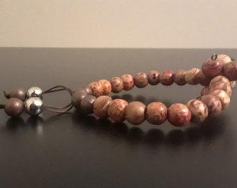 Brown and Reddish Bead Bracelet