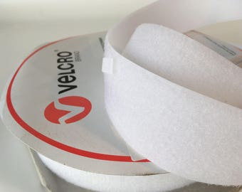1m x 50mm Velcro Brand LOOP touch tape, White, straps, horse rugs, bag making