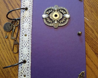 Vintage Inspired JuNk JoUrNal, Daily Journal, DiArY, Mixed Media, Old and New