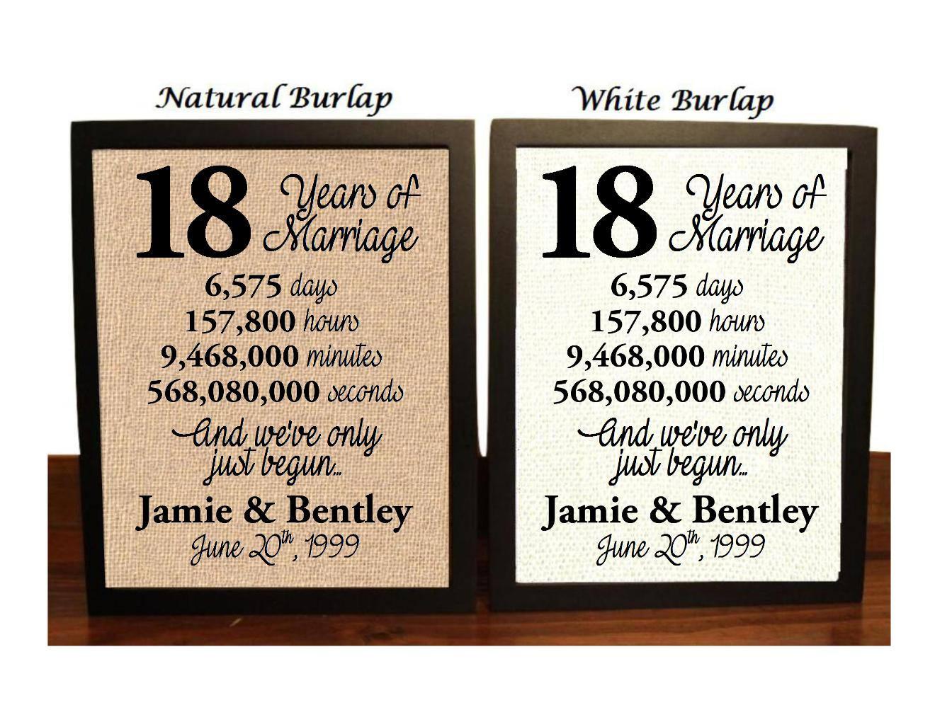 15 Year Wedding Anniversary Quotes: 18th Anniversary 18 Year Anniversary 18th Anniversary Gift
