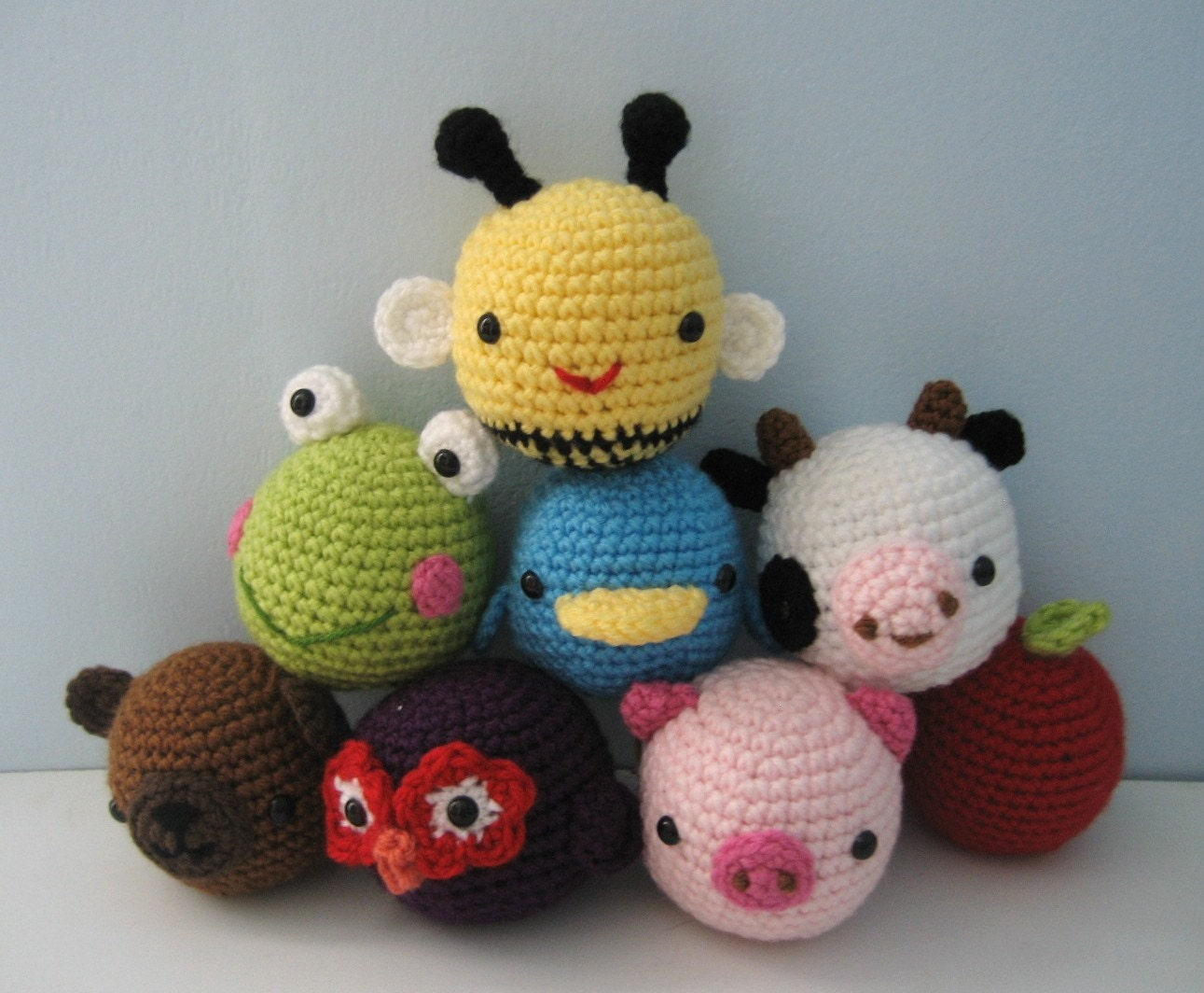 Amigurumi Crochet Animal Toys for Baby Pattern Digital Download from ...