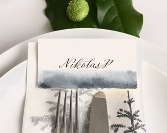Watercolour placecards (100+)