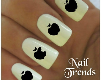 Nail Decal Apples 20  Vinyl Adhesive Decals Nail Tattoos  Nail Art