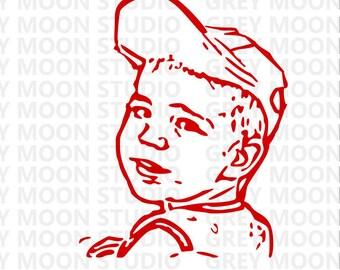 boy svg, kid, graymoonstudio,boy with hat