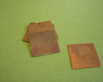 vintaj small square blank, rustic blank pendant ,vintaj charm, blank charm, 20mm blank, 1 piece