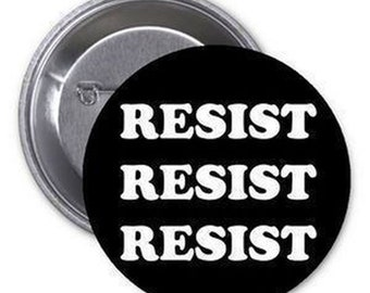 "12 Pcs Resist Resist Resist #Resist Pinback Button Pin Political 1.25"" Democracy"