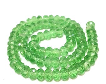 X 81 beads glass abacus faceted 6x4mm ❤ ❤