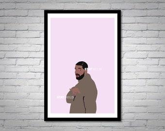 Drake Hotline Bling Wall Art Print
