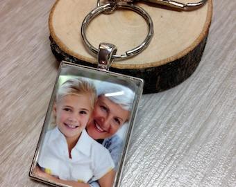 Custom Photo Keychain - Picture Keychain - Personalized Keychain - Photo Jewelry - Gift - Keepsake - Rectangle