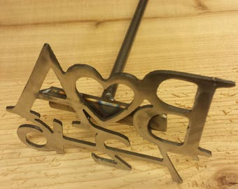 Nice Heavy Duty Metal Letter Branding Iron - Wedding Unity