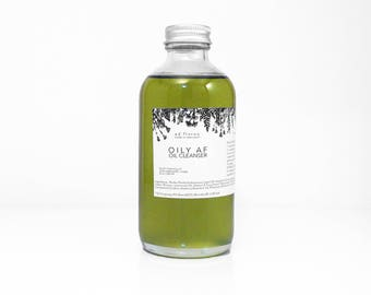 Oil Cleanser: OILY AF - holistic oil cleanser for acne, natural cleanser for oily skin, cystic acne cleanser, acne treatment, clogged pores