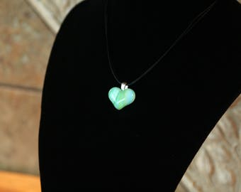 Hand-crafted Fused Pendant on Silver Bail