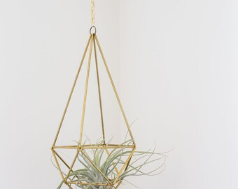 Brass airplant/greenery holder