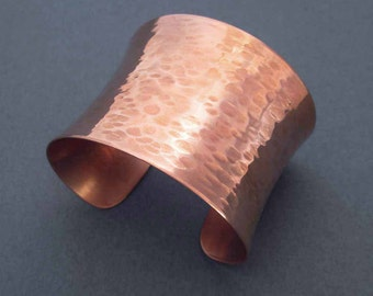 Hammered Copper Cuff Bracelet Dimple Textured Metal Modern Jewelry by Seventh Willow Copper Anniversary 7th Anniversary Gift for Her