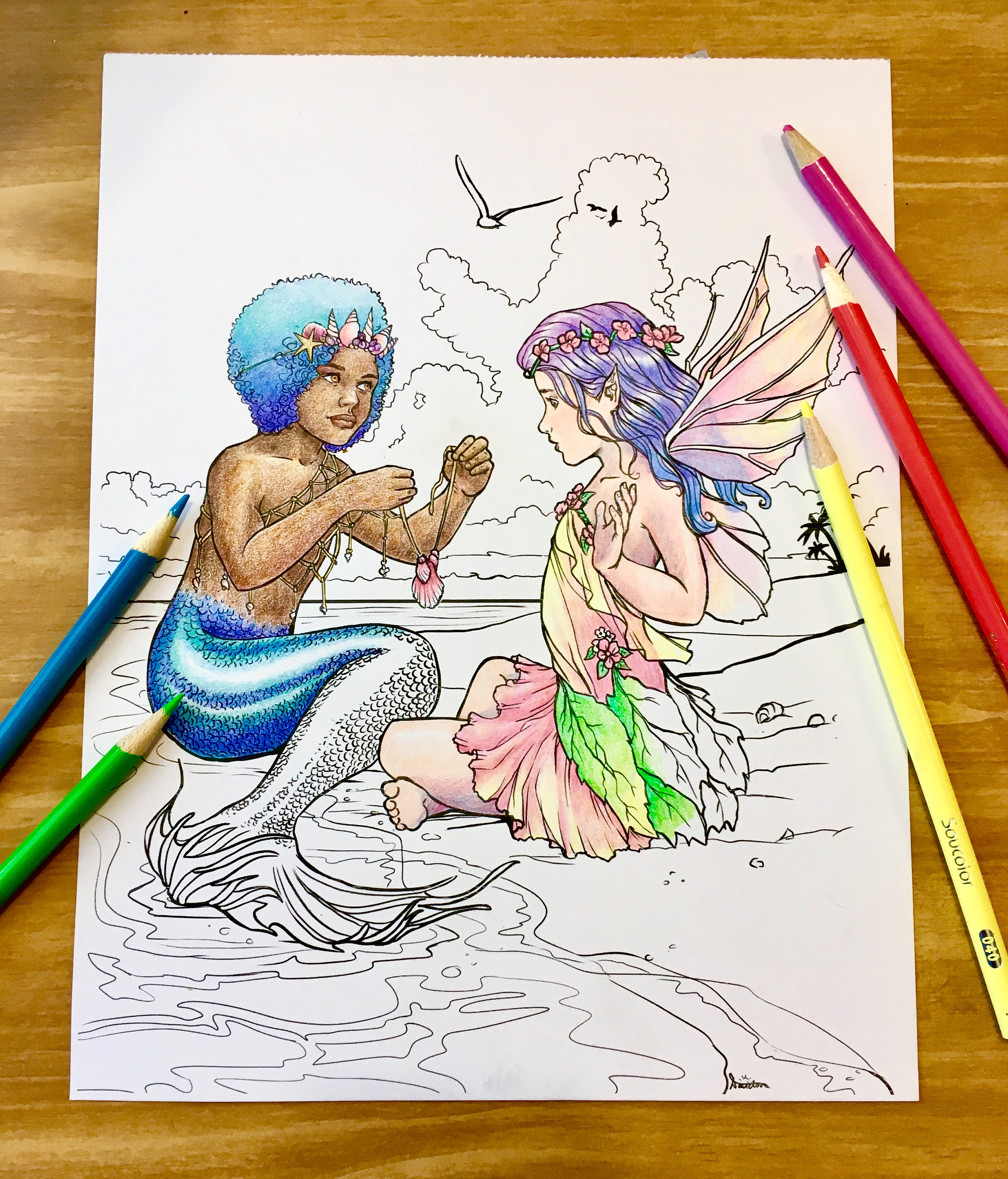 Coloring Pages, Adult Coloring, Fairy Coloring Page, Mermaid ...