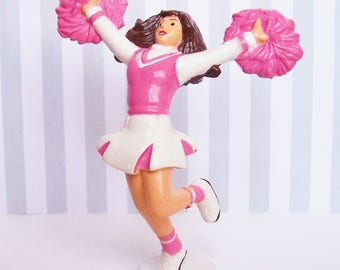 """Cheerleader Cake Topper Bakery Crafts 1997 PVC  NOS 4 1/2""""h"""