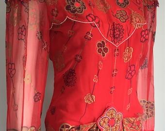 Amazing Silk Zandra Rhodes Dress
