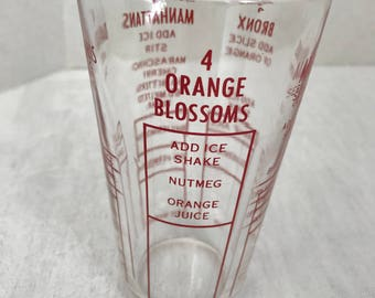Federal Glass Mixed Drink Measuring Glass - Mixology Glass