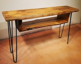 Sofa Table, Console Table, Media Table with Shelf, Cocktail Table, Hairpin Legs, Mid Century Table, Urban Farmhouse, Entry Table, Wood Table
