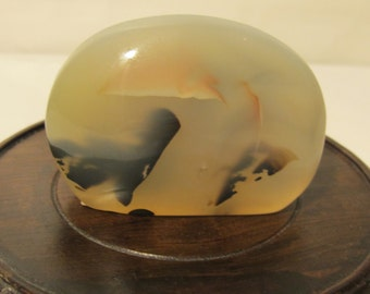 ON SALE Natural Colored  Agate  (Colored  on  Both side ), Only One Left .