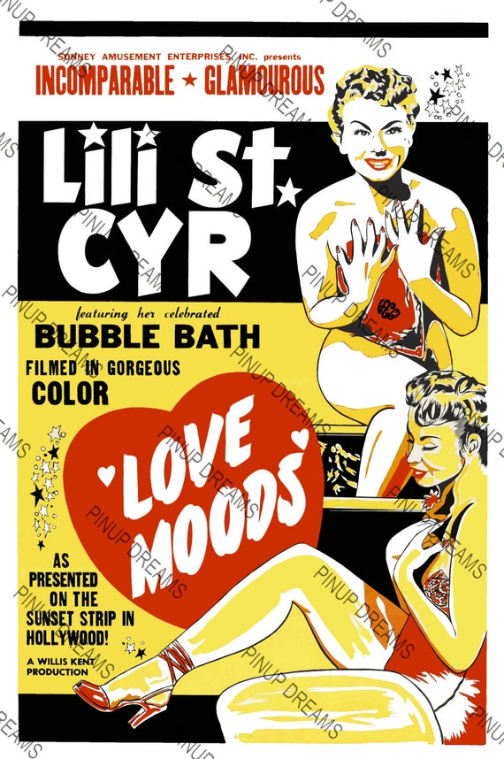 Vintage Burlesque Movie Poster Wall Art Print Love Moods