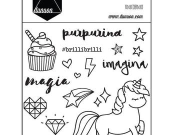 "Acrylic Stamps ""unicorn"""