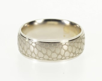 14k Reptilian Scale Pattern Men's  Wedding Band Ring Gold