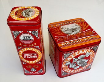 Two Vintage L. Lazzaroni & C. Vintage Biscuit Tins