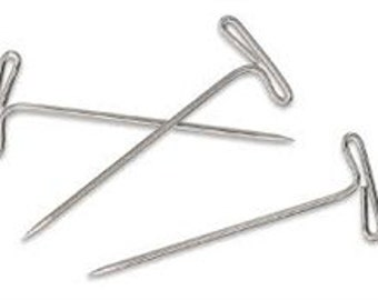 T Pins #28 -1 .75 inches and  #32-2 inches- 50 Pk - 800 Pk for Sewing and Slipcovers