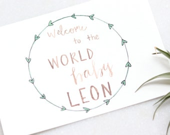 New Baby Card < Welcome to the World Baby >