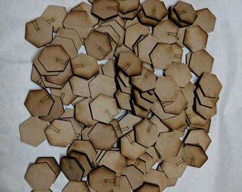 100 x 1 pouce hexagonale Bases-3 mm MDF