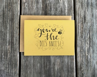 Bee Thank You Note Card Set, Cute Thank You Cards, The Bee Knee Thank You Card Set