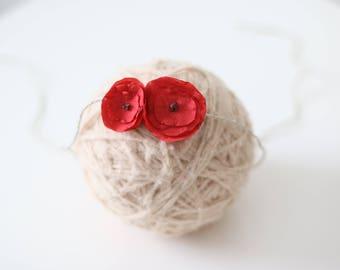 Newborn valentine -  Props headband - Baby girl headband - Newborn hair - Newborn baby girl - Props headband - Newborn headband - Flower