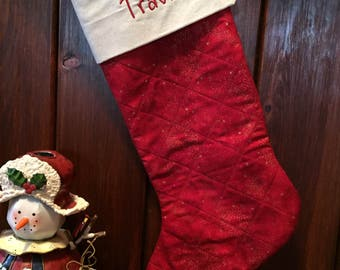 Christmas Stockings.  Can be embroidered with name