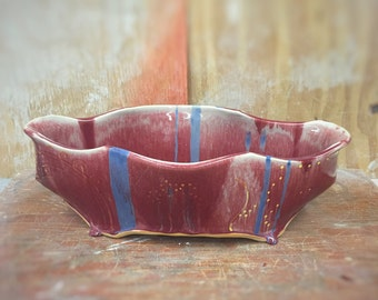 Handmade Pottery Extra Large Fruit Bowl in Red - Seconds