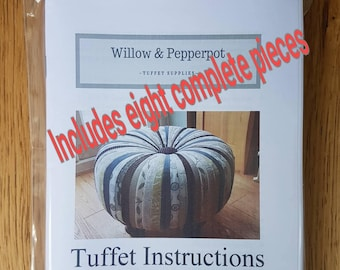 Tuffet pattern, tuffet instructions, ready to use tuffet sections