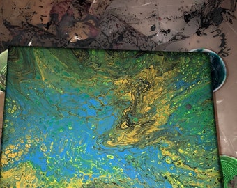 Earth Toned Pour
