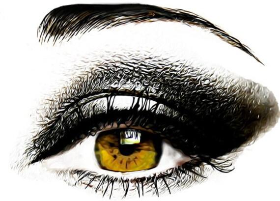golden brown womans eye makeup art printable clipart png digital download image graphics diy crafts