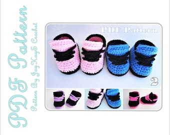 Nike Shoes Crochet Pattern Baby Sneakers