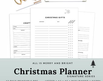 Printable Christmas Planner Holiday Planner Christmas Organizer Christmas Agenda Letter A4 A5 | PHCH-1009-A, INSTANT DOWNLOAD