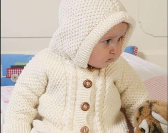 Baby jacket with hood-cardigan