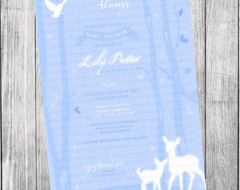 Harry Potter Baby Patronus Invitation