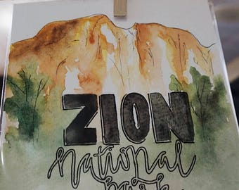 National Park Custom Watercolor Painting