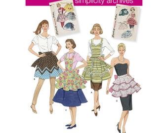 Apron Pattern - Simplicity Pattern 2592 1950s Vintage Aprons Simplicity Archives Misses S-M-L Vintage 1950s Apron Sewing Pattern New + Uncut