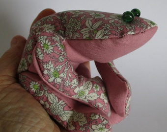 frog bean bag - lavender and flax filling - aromatherapy bean bag